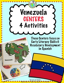 Venezuela Centers Stations Activity Pack Set of 4 for Spanish Class