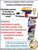 Venezuela Current Events Activity with the Cost of Going to School
