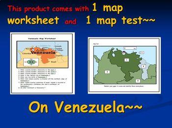 Venezuela Map Activities