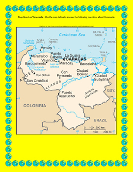 Venezuela Map Quest Geography Skills