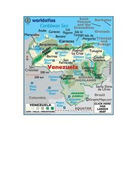 Venezuela Map Scavenger Hunt