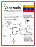 VENEZUELA - Introductory Geography Worksheet