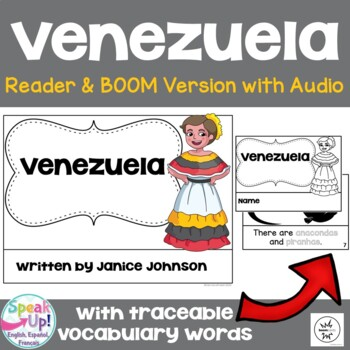 Venezuela Reader {English Version} & Vocab work ~Simplified for Young Learners