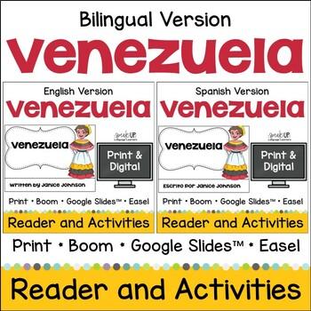 Venezuela Readers & vocab pages in English & Spanish {Bilingual version}