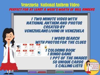 071 Venezuelan National Anthem Video coloring book, wordsearch, bingo, lyrics