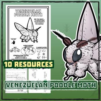Venezuelan Poodle Moth -- 10 Resources -- Coloring Pages,