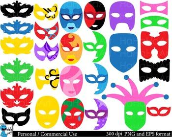 Venice Masks Props Digital Clip Art Commercial Use 151 images cod168