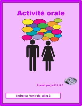 Venir de Aller à Endroits Places Partner Speaking Activity
