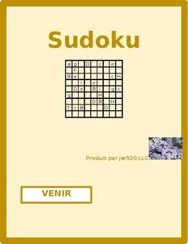 Venir present tense French verb Sudoku