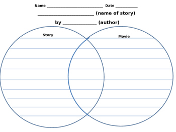 Venn Diagram Activity - Graphic Organizer