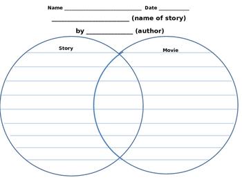 Venn Diagram Activity - Graphic Organizer