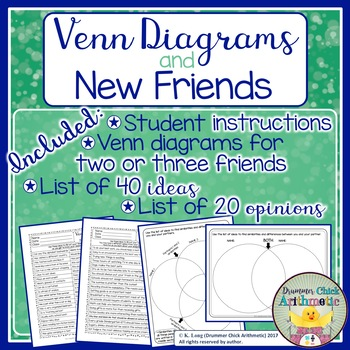 Venn Diagram Back To School Activity By Drummer Chick Arithmetic