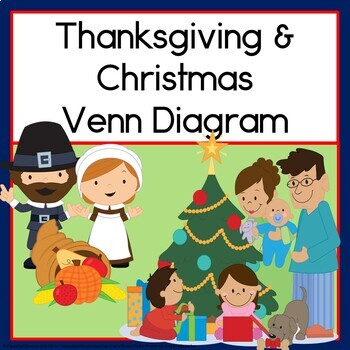 venn diagram christmas & thanksgiving  christmas clip art venn diagram #12