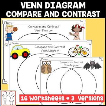 Venn Diagram Compare And Contrast Activities By Catherine S Tpt