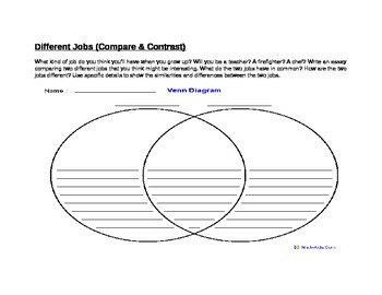 Venn Diagram- Compare and Contrast Different Jobs