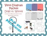 Venn Diagram: Compare and Contrast Dog vs. Wolf