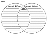 Venn Diagram - Compare and Contrast Graphic Organizer