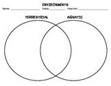 Venn Diagram Comparing Terrestrial & Aquatic Environments