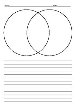 Venn Diagram Comparing Writing Template