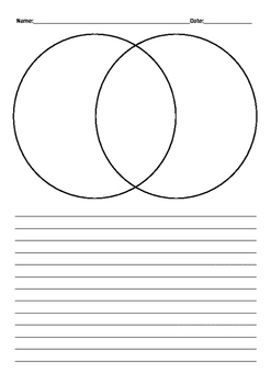 Venn Diagram Comparing Writing Template