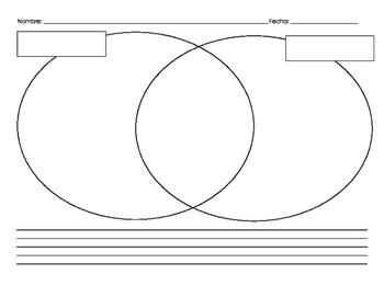 Venn Diagram - Dual Language - English/Spanish - Bilingual