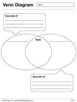 Venn Diagram - Easy Organizer