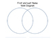 Venn Diagram - First & Last Name