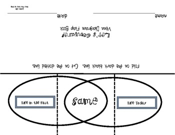 Venn Diagram Flap Book Freebie: Compare the Past to the Present