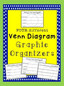 Venn Diagram Graphic Organizers for ELA
