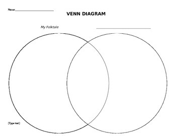 Venn Diagram Handout (Create Your Own Folktale Lesson Plan)