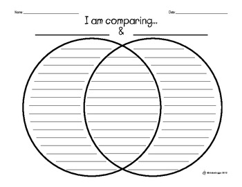 Venn Diagram: I Am Comparing...