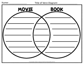 Venn Diagram - Movie versus Book - 3 Venn Diagrams Included!