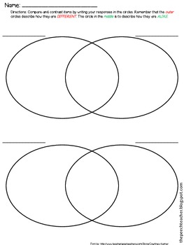 FREEBIE!!! Venn Diagram Printable