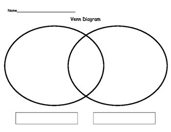 Venn       Diagram    Template by Always in First Grade   TpT