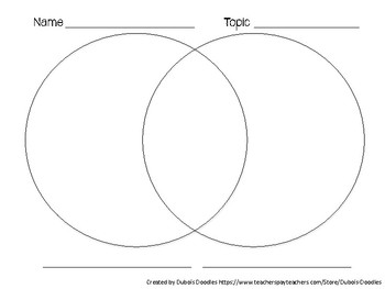 Venn diagram template by dubois doodles teachers pay for Venn diagram 5 circles template