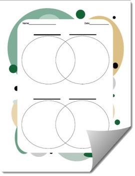 Venn Diagram Graphic Organizer Template (Differentiated)
