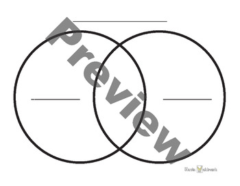 Venn Diagram Templates Black and White Pack
