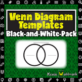 Venn Diagram Templates Black and White Pack