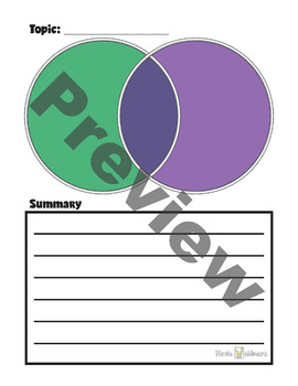 Venn Diagram Templates Rainbow Pack