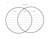 Venn Diagram with lines for younger students