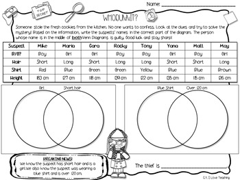 Venn Diagram Worksheets