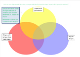 Venn Diagram - classifying geometric shapes based on properties and sizes.