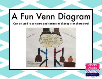 Venn Diagram for Comparing and Contrasting Real People or Characters!
