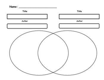 Venn Diagram to Compare/Contrast 2 different books