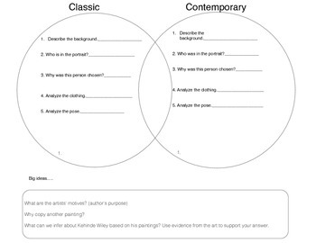 Venn Diagram with Guiding Questions
