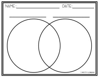 Venn Diagram Blank & Lined Templates | Freebie by Blooming ...