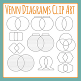 Venn Diagrams Clip Art Set for Commercial Use