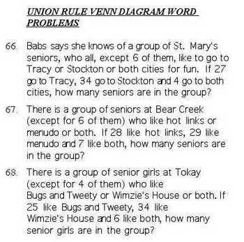 Venn Diagrams Multiple Choice Quiz Bank
