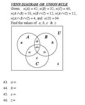 Venn diagrams multiple choice quiz bank by dwight swanson tpt venn diagrams multiple choice quiz bank ccuart Images