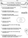Venn Diagrams Multiples and Factors